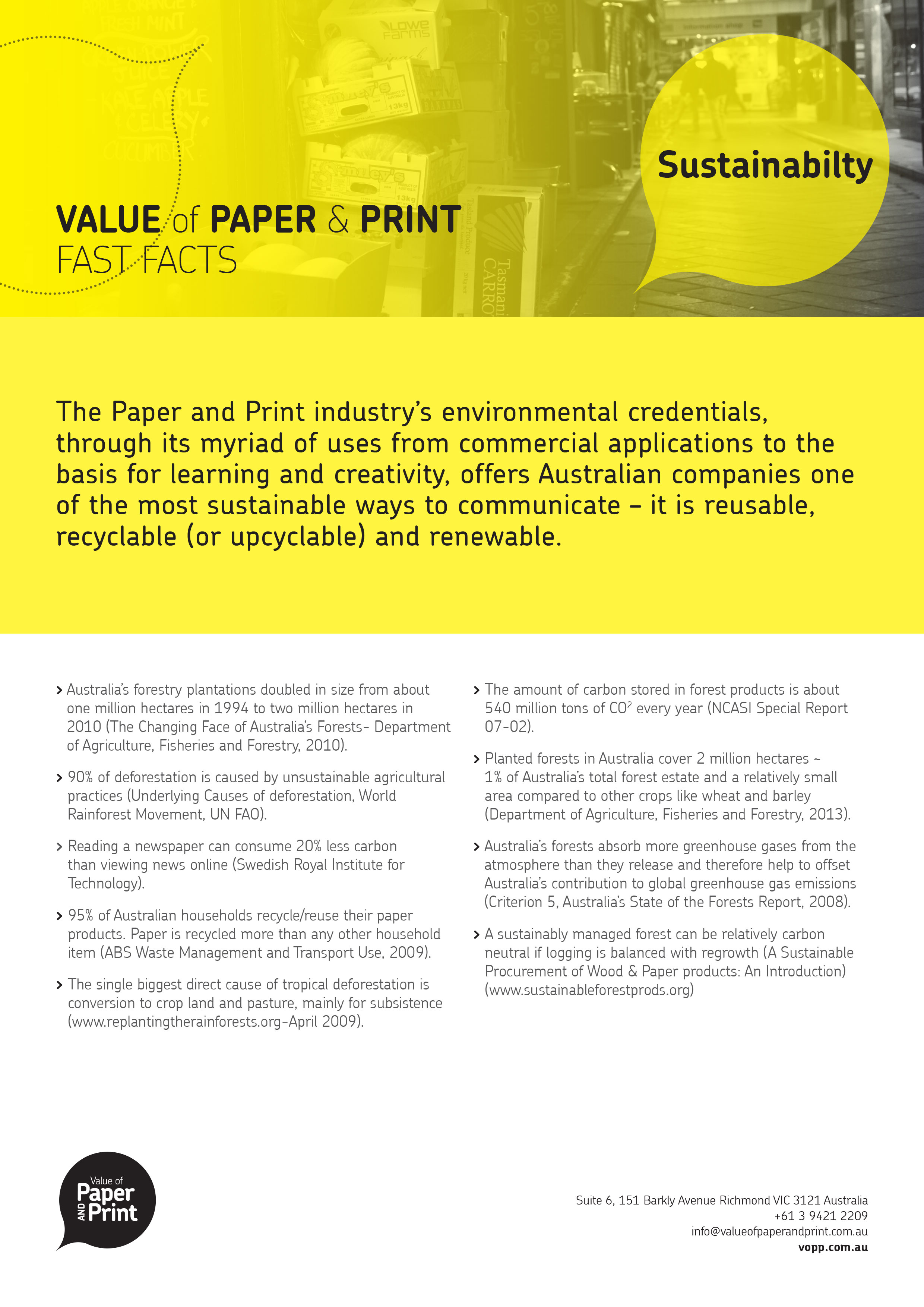 Value of paper & print - Fast Facts